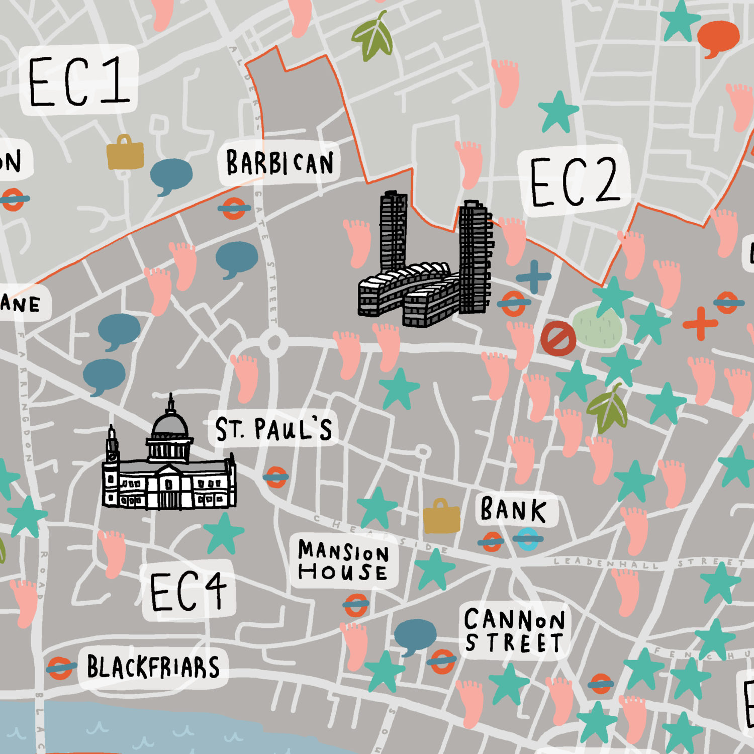 City Of London Healthcare Map Crop 1