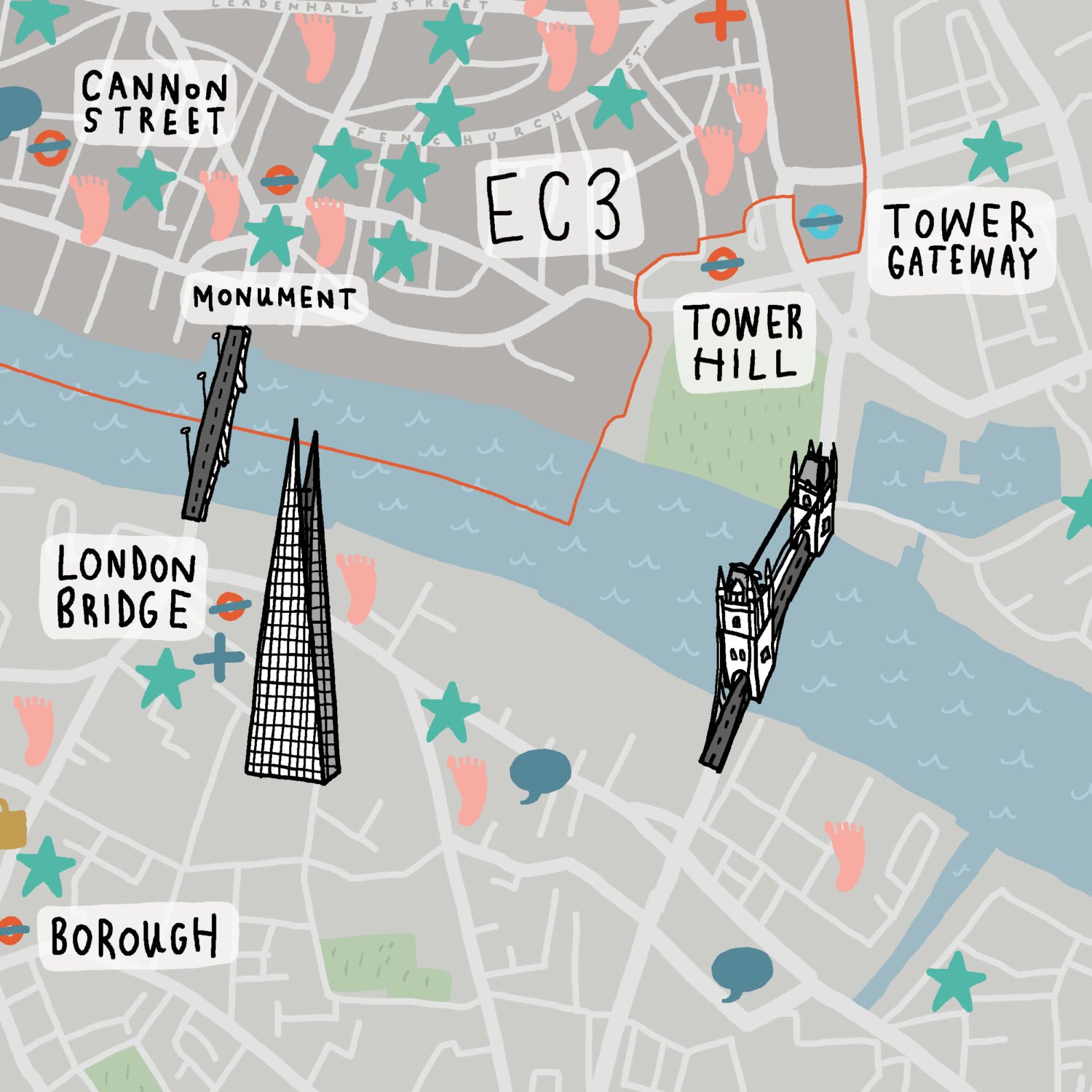 City Of London Healthcare Map Crop 2