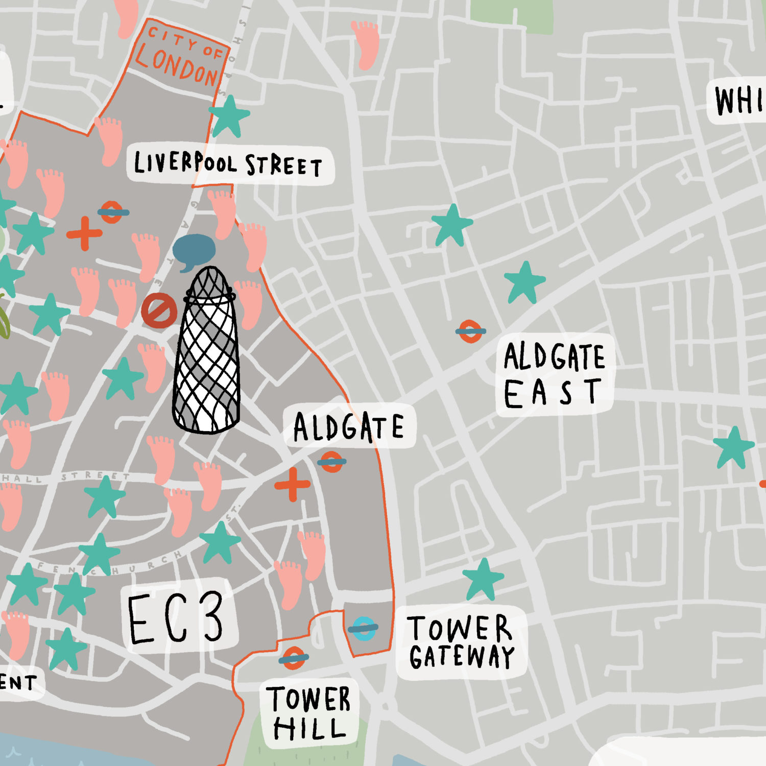 City Of London Healthcare Map Crop 3