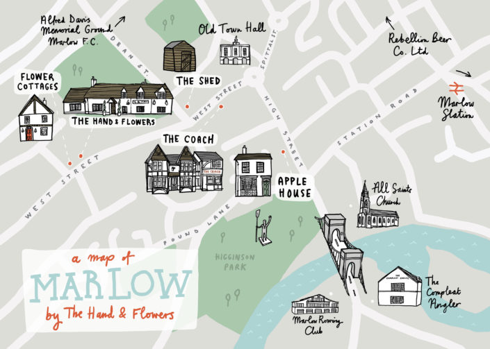 Hand & Flowers Map