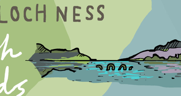 wanderlust uk ireland illustrated map loch ness