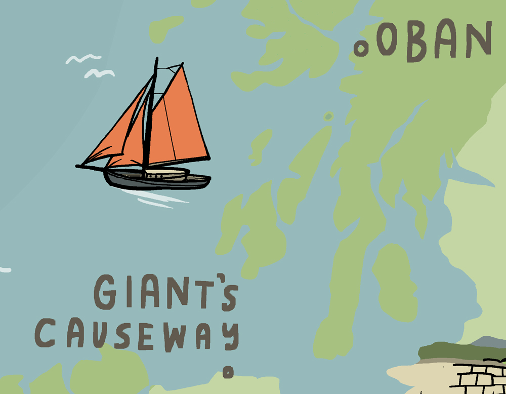 wanderlust uk ireland illustrated map oban