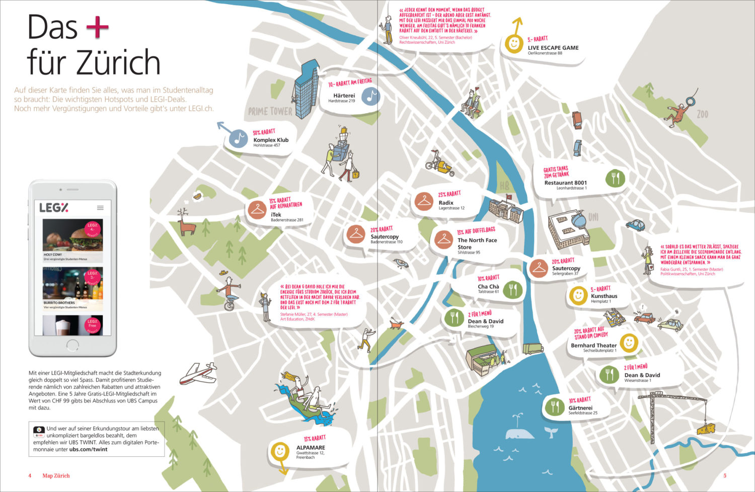 UBS Campus Zurich Map