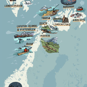 Norway illustrated map