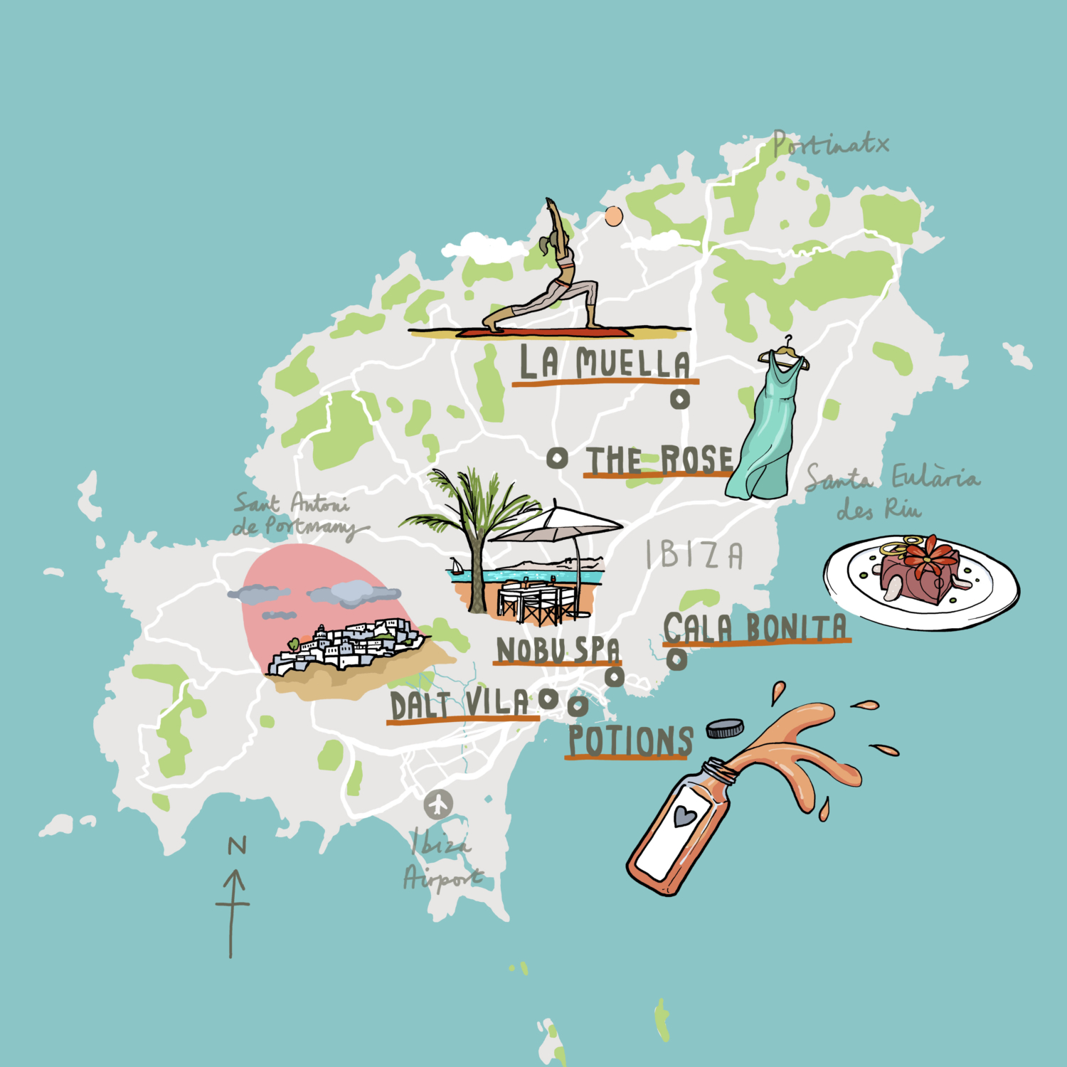 British Airways Spain Maps Laura Barnard Map Illustrator