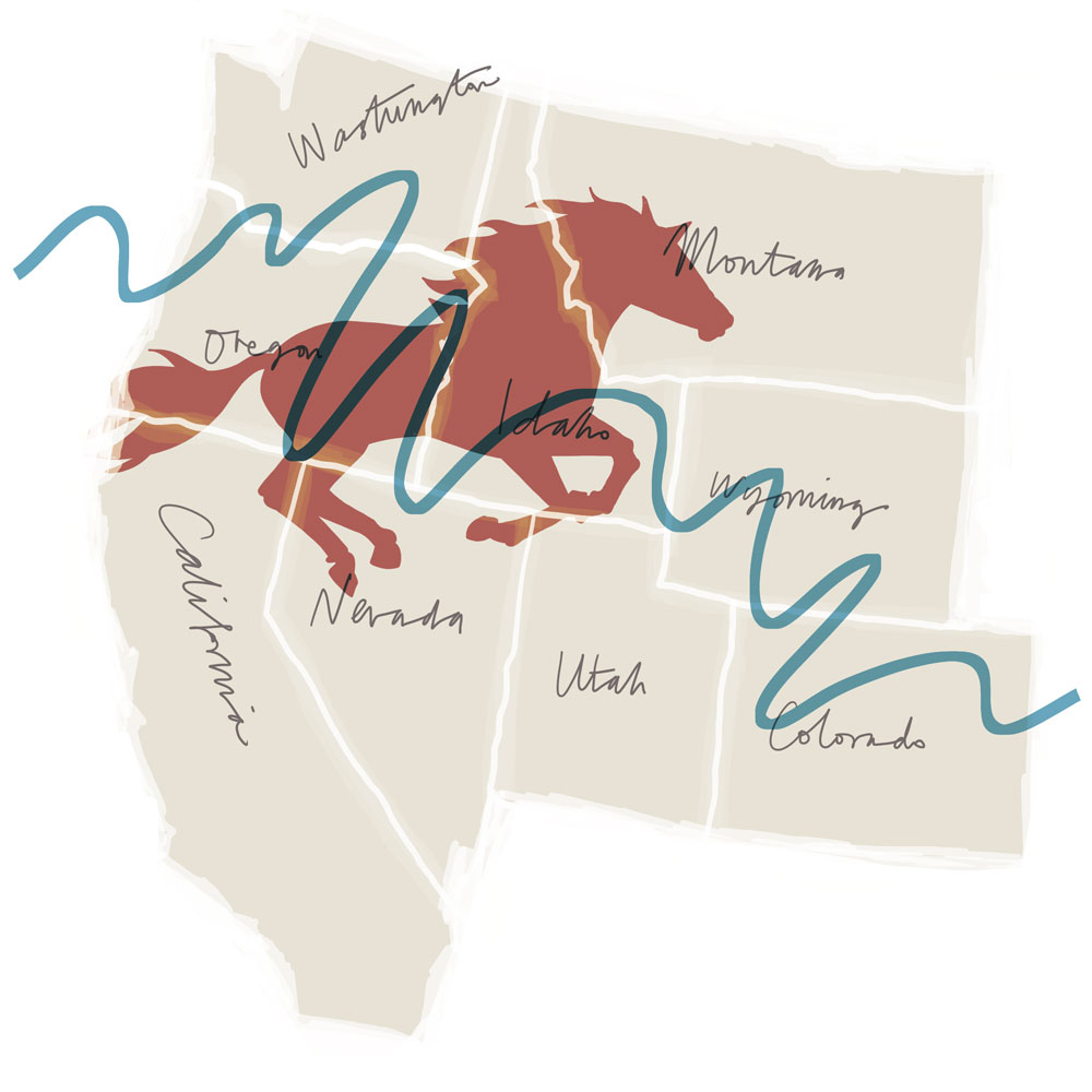 Map of Portland, Oregon, U.S. inspired by reading Lean on Pete by Willy Vlautin