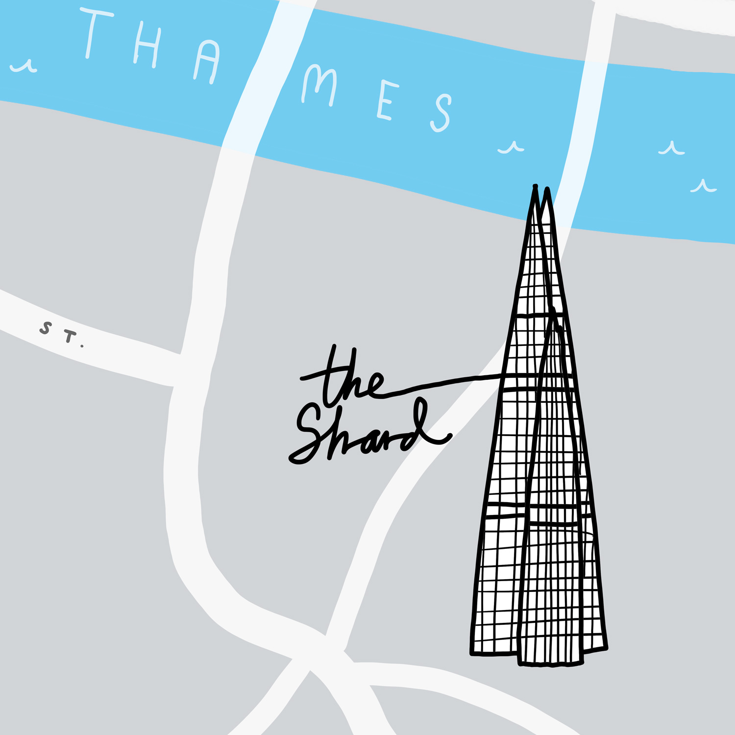 The City Law School Prospectus Map The Shard