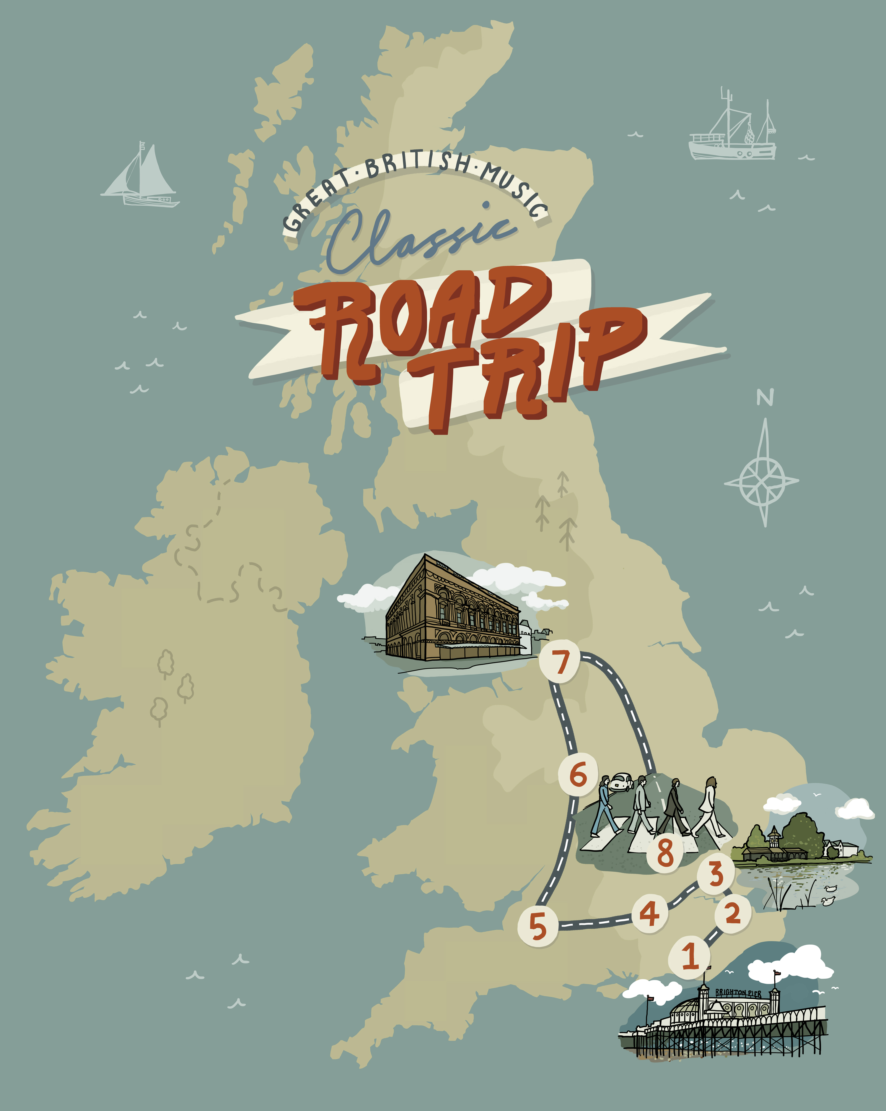 Classic Road Trip full UK map
