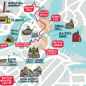Boston University Campus Map Thumbnail